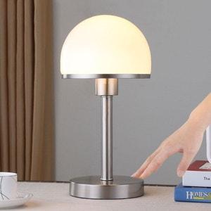 Lampe à poser stylée Jolie abat-jour en verre LAMPENWELT