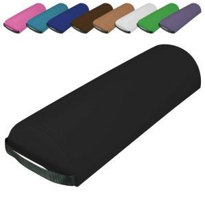 Traversin, coussin demi-rond 66 cm x 22 cm x 12 cm pour table de massage - 9 coloris VIVEZEN