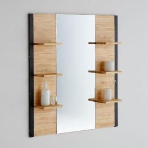 Miroir de salle de bains, pin massif et métal, Hiba La Redoute Interieurs