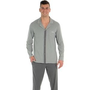 Long Pyjamas with Long-Sleeved Shirt-Style Top ATHENA