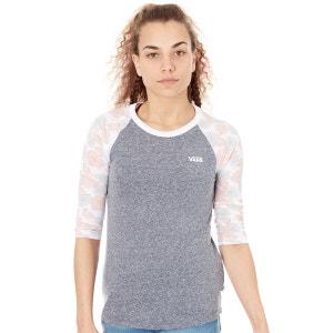 T-shirt femme bicolore à manches longues Poppy Dream VANS