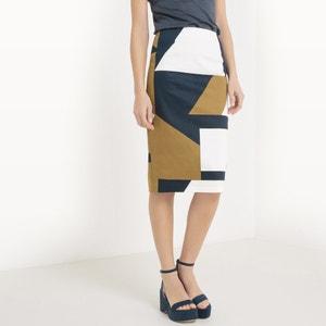 Falda tubo con estampado gráfico R essentiel
