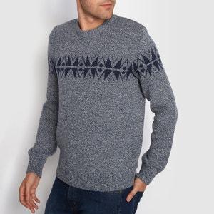Sweter, okrągły dekolt, żakardowy wzorek R édition