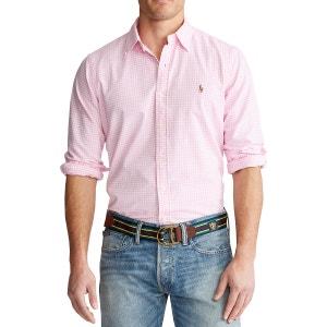 Recht oxford hemd met strepen