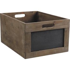 Caisse de rangement en bois avec ardoise AUBRY GASPARD
