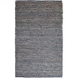 Tapis de salon design cuir & jute Street Grey DRAWER