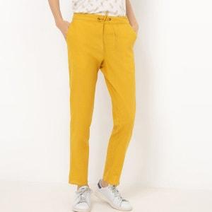Pantalon fuselé, coton/lin R Edition
