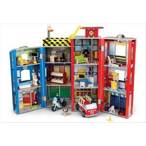 Caserne de pompier KidKraft et ses meubles KIDKRAFT