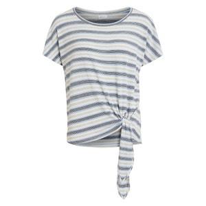 Camiseta con cuello redondo de manga corta y bajo para anudar VILA