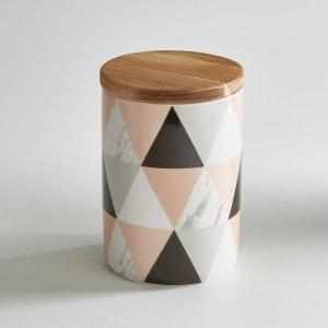 Pot en céramique avec couvercle en bambou La Redoute Interieurs
