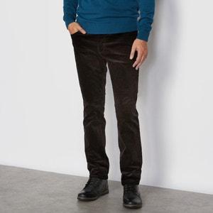 Pantalon 5 poches, en velours R essentiel