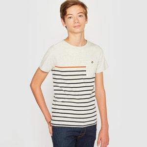 T-shirt às riscas 10-16 anos R essentiel