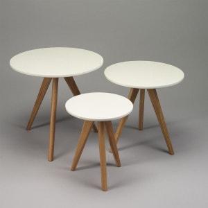 Lot de 3 tables basses à pieds compas, Sélection Zendart ZENDART