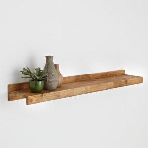 Этажерка из массива дуба с соединением встык и стали, Hiba La Redoute Interieurs