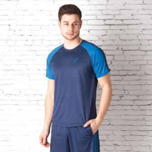 T-shirt AsicsEssentials Colourblock pour homme en bleu marine ASICS