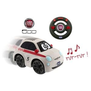 Voiture Radiocommandée : Fiat 500 blanche CHICCO