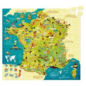 Puzzle 300 pièces : Carte des merveilles de France VILAC