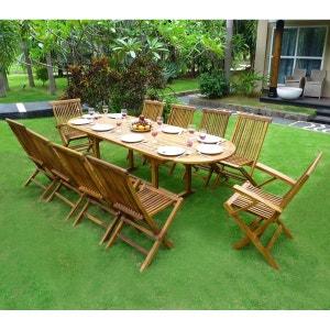 Salon de jardin - Table, chaises Wood en stock | La Redoute