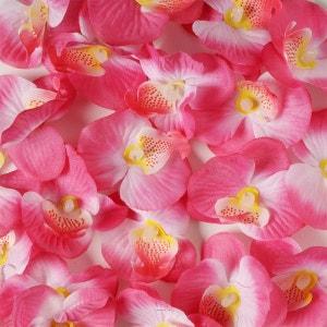 Tetes d orchidees X 20 Rose Tendre en sachet D 6 cm - choisissez votre coloris: Rose tendre ARTIF-DECO