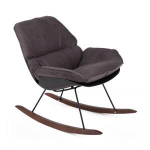 Rocking chair vintage en tissu Buddy DRAWER