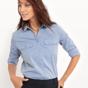 Getailleerd hemd, 100% katoen atelier R