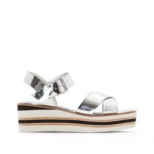 Sandales cuir compensées Keegan DUNE LONDON