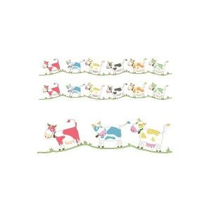 Stickers muraux : frise vaches 6 couleurs DECOLOOPIO
