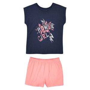 Bedrukte pyjashort, 10 -16 jr La Redoute Collections