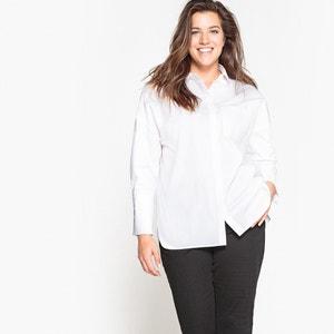 Camisa lisa de manga larga con corte oversize CASTALUNA