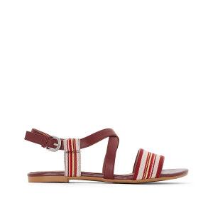 Sandales plates à rayures atelier R