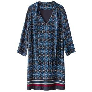 Robe foulard housse, imprimée, satin La Redoute Collections