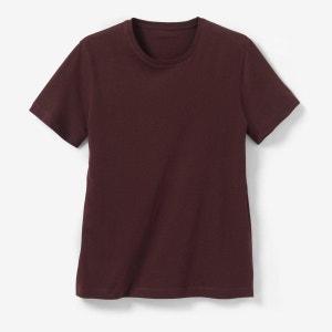 Bawełniana koszulka, okrągły dekolt NISKIE CENY