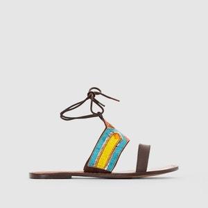 Sandales plates sequins R studio