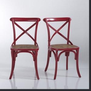 chaise de cuisine rouge la redoute. Black Bedroom Furniture Sets. Home Design Ideas
