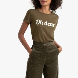 T-shirt met ronde hals en tekst