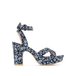 Sandales talon haut imprimé fleuri R Edition