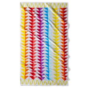 Block Cotton Beach Towel, 420g/m² La Redoute Interieurs