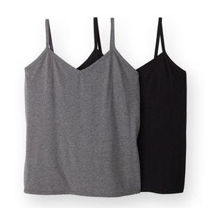 Pack of 2 Strappy Vest Tops CASTALUNA