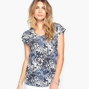 Bedrukt T-shirt, katoen & modal ANNE WEYBURN