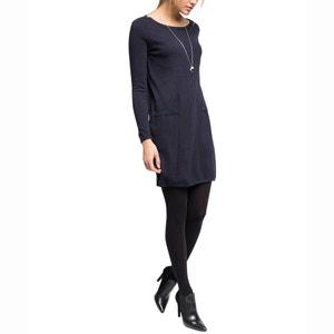 Kleid aus Feinstrick, Glanzakzente ESPRIT