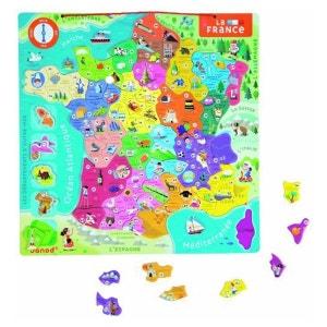 Puzzle Bois France Magnetique 93 Pièces - JURJ05486 JANOD