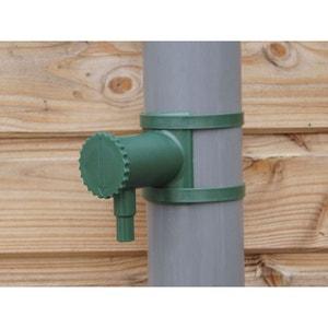 Connecteur de récupérateur d'eau de pluie pour gouttière 80 à 100 mm NORTENE
