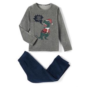 Pyjama fête velours motif dinosaure 2-12 ans La Redoute Collections