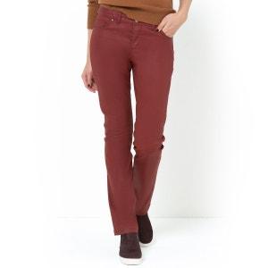 Pantalón recto 5 bolsillos, algodón stretch con revestimiento R essentiel