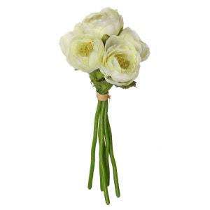 Fleurs artificielles Bouquet 6 Renoncules - H. 25 cm - Blanc ATMOSPHERA