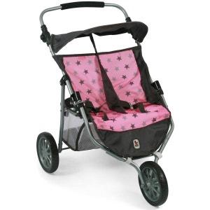 Bayer Chic 2000 697 83 Poussette Jogger 3 roues pour poupées jumelles - Coloris 83 BAYER CHIC 2000