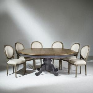 Table extensible 8 à 10 couverts, pied central, AMBOISE ROBIN DES BOIS