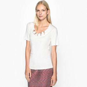 T-Shirt mit Schmuckdetails ANNE WEYBURN