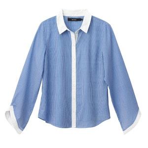 Camisa recta de manga larga, con cuello camisero VERO MODA