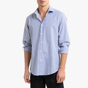Gestreept slim hemd 100% katoen